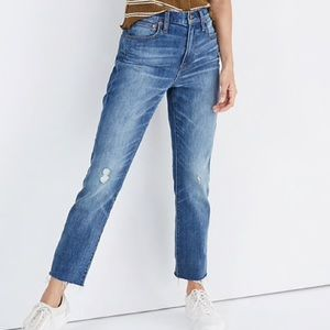 Madewell High Rise Straight Crop Jeans 32